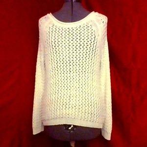 small oversized cotton white sweater